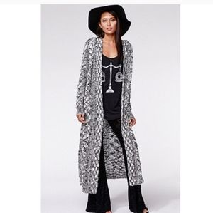 Kendall & Kylie Long Knit Duster Hooded Cardigan